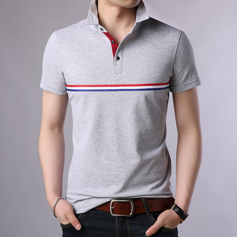 2019 New Fashion Brands Summer Polo Shirt Mens Solid Color Short Sleeve Slim Fit Top Grade boys Poloshirt Casual Men's Clothing - one46.com.au