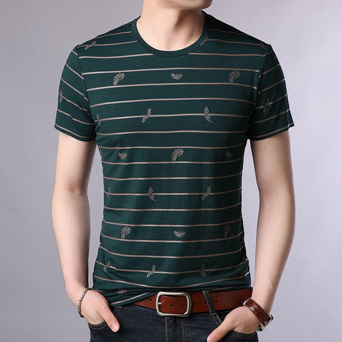 2019 New Fashion Brand T Shirts Mens O Neck Striped Summer Tops  Street Style Trends Print Short Sleeve Tshirts Men Clothing - one46.com.au