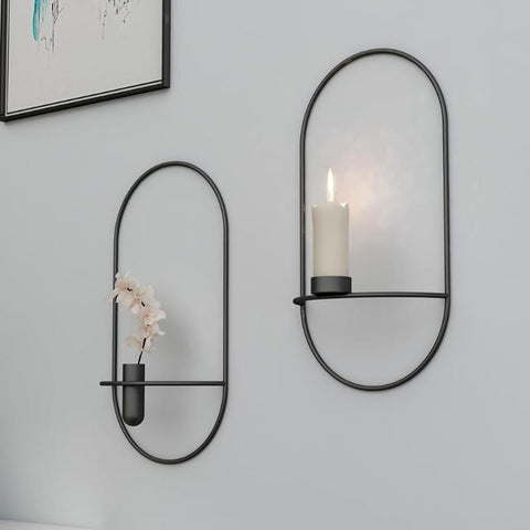 Candlestick Metal Candle Holders New Modern Style Wall Candle Holder Sconce Matching Small Tea Light Home Ornaments - one46.com.au