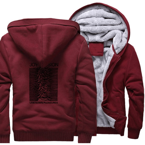clothes man's thick zipper sweatshirt hip hop 2019 winter unknown pleasure fashion hoodies fitness jackets men wool liner coats - one46.com.au