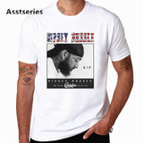 The Great Nipsey Printed Men T Shirt Hip Hop White Tshirt Harajuku Streetwear Rapper Lil Peep Nipsey Hussle Men Clothes HCP4570 - one46.com.au