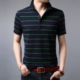 2019 New Fashion Brand Summer Polo Shirt Men Top Grade Striped Slim Fit Short Sleeve Boyfriend Gift Polos Casual Men Clothes - one46.com.au