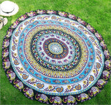 Newest Arrivals faroot 2018 Boho Tapestry Beach Throw Towel Mandala Round Indian Hippie Mat Picnic Blanket - one46.com.au