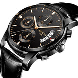 NIBOSI Watch Men Fashion Sport Quartz Clock Mens Watches Top Brand Luxury Business Waterproof Gold Black Watch Relogio Masculino - one46.com.au