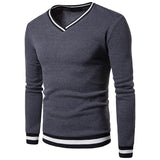 TANGNEST Black White Stitching Color Matching Breathable Layer Men's Hoodie Casual V-neck Long-Sleeved Sweatershirt Men MWW1430 - one46.com.au