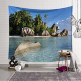Sea Beach Tree Tapestry Wall Hanging Wall Tapestry Blanket Tapestry Living Room Bedroom Farmhouse Decor Wall Fabric Celestial - one46.com.au