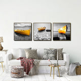 11484 Black And White - Yellow Boat Oil Painting Frameles Painting Decoration Art Canvas Modern Home Decoration Painting - one46.com.au