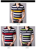 2019 New Fashion Brand Summer Polo Shirt Men Striped Cotton Boyfriend Gift Short Sleeve Slim Fit Top Grade Polos Casual Clothes - one46.com.au