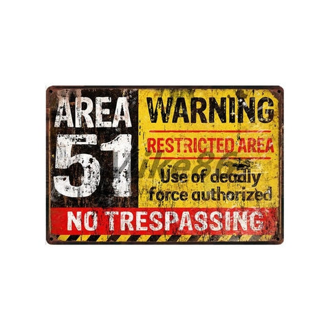 [ Mike86 ] Wanring AREA 51 I WANT TO BELIEVE UFO Aliens Metal Sign Wall Plaque Poster Custom Painting Room Decor Art LT-1695