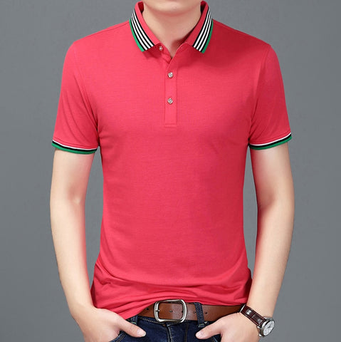 2019 New Fashion Brand Summer Polo Shirt Men Top Grade Slim Fit Short Sleeve Solid Color Boyfriend Gift Polos Casual Men Clothes - one46.com.au