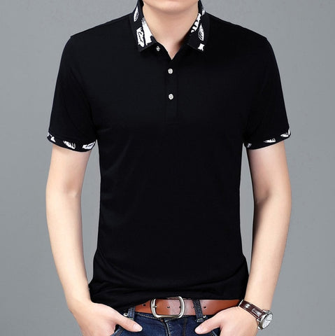 2019 New Fashion Brands Polo Shirt Men Solid Color Summer Slim Fit Short Sleeve Top Grade British Style Poloshirt Casual Clothes - one46.com.au