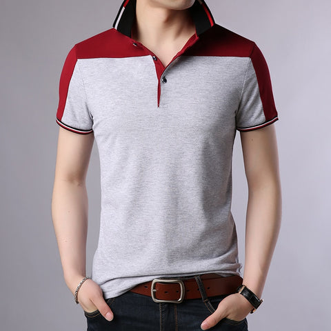 2019 New Fashion Brand Designer Polo Shirt Mens Solid Color Summer Slim Fit With Short Sleeve Top Grade Polo Casual Men Clothes - one46.com.au