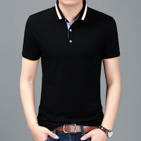 2019 New Fashions Polo Shirt Men Solid Color Summer Short Sleeve Slim Fit Top Grade British Style Polos Casual Mens Clothing - one46.com.au