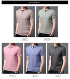 2019 Fashion Brand Polo Shirts Men Solid Color Summer Short Sleeve Slim Fit British Style boys Poloshirt Casual Mens Clothing - one46.com.au
