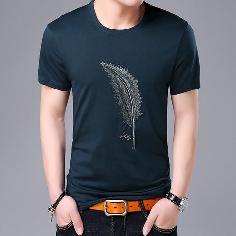 2019 New Fashion Brand T Shirts For Men Pattern O Neck Summer Trends Street Wear Tops Korean Short Sleeve Tshirts Men Clothes - one46.com.au