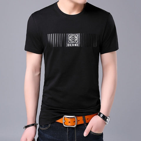 2019 New Fashion Brand T Shirt Mens O Neck Pattern Summer Street Wear Tops Trends Korean Print Short Sleeve Tshirts Men Clothes - one46.com.au