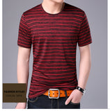 2019 New Fashion Brand T Shirt Mens Striped Summer Street Wear Tops Trends O Neck Top Grade Short Sleeve Tshirts Men Clothes - one46.com.au