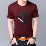 2019 New Fashion Brand Tshirt Men O Neck Print Summer Tops Streetwear Pattern Korean boys Short Sleeve T-Shirt Mens Clothing - one46.com.au