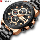 Stainless Steel Business Quartz Men Watch Top Brand Luxury Chronograph  Watches CURREN Wristwatches Men Clock Relogio Masculino - one46.com.au