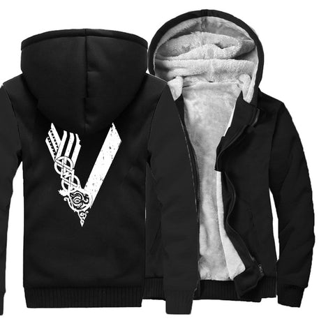 Son of Odin Viking hooded jackets warm Men long sleeve zipper thicken Clothes sweatshirts Vikings Odin man's tracksuits 2019 - one46.com.au