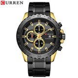 Stainless Steel Quartz Luxury Brand  Watches Men Chronograph Wristwatch Sporty  Clock Male Casual Business Quartz  CURREN Watch - one46.com.au