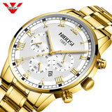 NIBOSI Relogio Masculino Men Watch Chronograph Stainless Steel Watches Men Waterproof Quartz Watch Luxury Casual Business Clock - one46.com.au