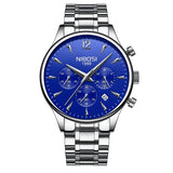 NIBOSI Luxury Brand Men Watches Chronograph Men Sports Clock Watches Waterproof Full Steel Quartz Men's Watch Relogio Masculino - one46.com.au