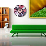 Wall Clock 3D Round Retro Quartz Hanging Clock for Pub Home Decor 2019ing - one46.com.au