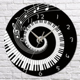 DIY Piano Acrylic Mirror Wall Clock Modern Home Decor Living Room Wall Sticker Clocks E2S - one46.com.au