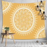 Psychedelic Bohemian Mandala Printed Polyester Tapestry Wall Hanging For Decorate Home Living Room Bedroom Office 3 Sizes - one46.com.au
