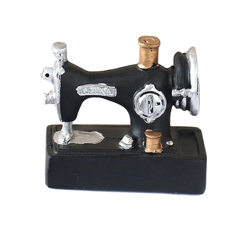 Mini Sewing Machine Ornaments Resin Vintage Decor Crafts for Home Office E2S - one46.com.au