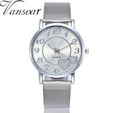 2019 Vansoar Fashion Simple Brand Women Watch Stainless Steel Strap Pin Buckle Ladies Clock Quartz Wrist Watches zegarek damski - one46.com.au