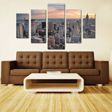 10790 5 City View Frameles Oil Painting Canvas Painting Wall Decoration Art Canvas Modern Home Decoration Painting - one46.com.au