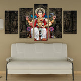 11419 Elephant God Ganisa B Frameles Oil Painting Canvas Painting Decoration Art Canvas Modern Home Decoration Painting - one46.com.au