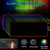 RGB Colorful LED Lighting Mouse Pad Mat for PC Laptop Gaming EM88 - one46.com.au