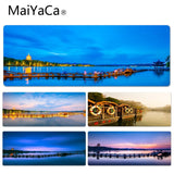 MaiYaCa  West Lake Night Scene Keyboard Gaming MousePads Size for 40x90CM Speed Version Gaming Mousepads - one46.com.au