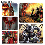 MaiYaCa Boy Gift Pad Deadpool gamer play mats Mousepad Size for 180x220x2mm and 250x290x2mm Rubber Mousemats - one46.com.au