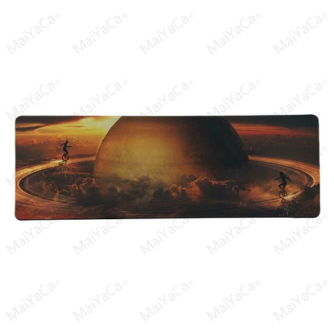 MaiYaCa  Sunset Planets Durable Rubber Mouse Mat Pad Size for 30x80cm and 30x90cm Gaming Mousepads - one46.com.au
