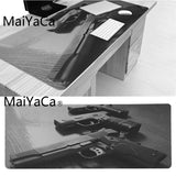 MaiYaCa New Designs Gaming Gun Durable Rubber Mouse Mat Pad Size for 300*900*2mm and 400*900*2mm Game Mousepad - one46.com.au