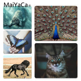 MaiYaCa Peacock Cat Tiger Horse Pet Unique Desktop Pad Game Not Lockedge Mousepad Size for 25x29x0.2cm Gaming Mousepads - one46.com.au