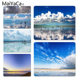 MaiYaCa Sky Mirror Tea Card Salt Lake Office Mice Gamer Soft Mouse Pad Size for 18x22x0.2cm Gaming Mousepads - one46.com.au