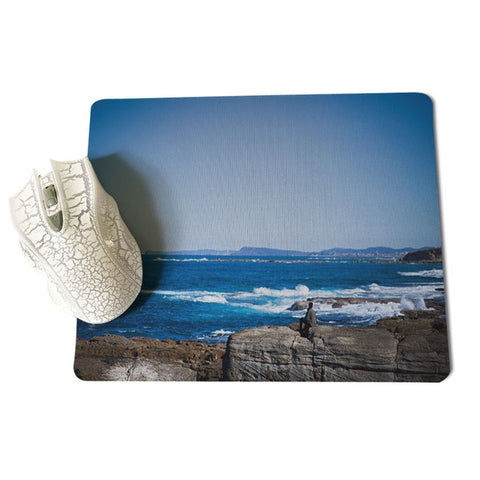 MaiYaCa Funny Man sitting on the  of a cliff MousePads Computer Laptop Anime Mouse Mat Size for 18x22cm 25x29cm Mousepad - one46.com.au