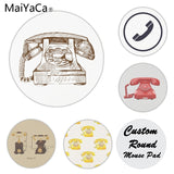 MaiYaCa  Retro Telephone Laptop Computer Mousepad Size for 22x22x0.2cm Gaming Mousepads - one46.com.au
