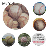 MaiYaCa Your Own Mats Baseball  Laptop Gaming Mice Mousepad Round Mouse Pad PC Computer Mat - one46.com.au