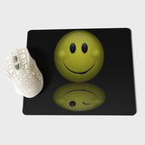 MaiYaCa Smiley Face Black Background Office Mice Gamer Soft Mouse Pad Size for 18x22x0.2cm Gaming Mousepads - one46.com.au
