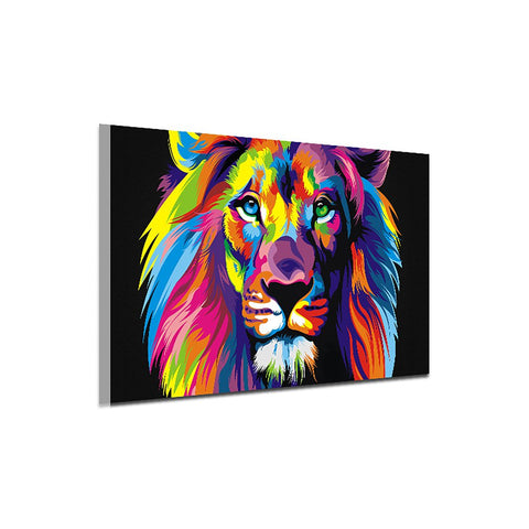 10729 Colorful Animal Lion Frameless Painting Canvas Decorative Painting Art Canvas Modern Home Decoration Painting - one46.com.au