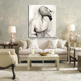 13128y Sketch Style Beauty Back Chest Frameless Canvas Painting Decoration Art Canvas Modern Home Decoration Painting - one46.com.au