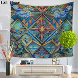 LzL Home Indian Mandala Tapestry Paintings Psychedelic Colorful Wall Hanging Tapestries Religion National Features Dorm Wall Art - one46.com.au