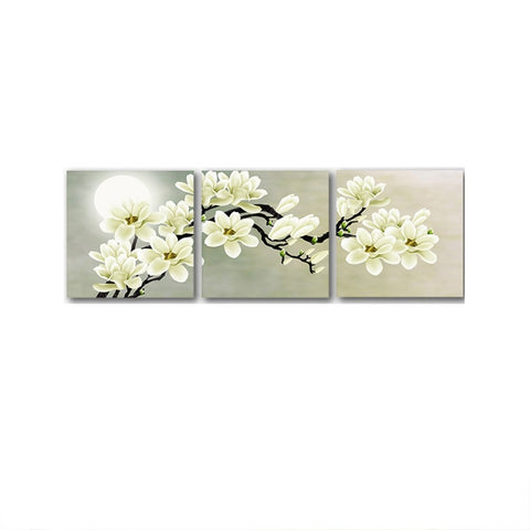 11094 Cross Section Branch & White Flower Frameles Canvas Painting Decoration Art Canvas Modern Home Decoration Painting - one46.com.au