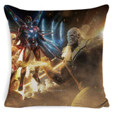 Avengers Endgame Cushion Cover Marvel Cotton Linen Pillow Case 45x45m For Sofa Chair Bedroom Pillowcase Home Decor Almofada - one46.com.au
